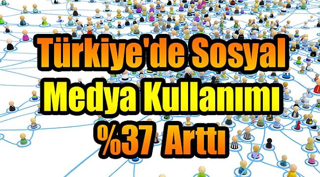 Türkiye'de Sosyal Medya Kullanımı %37 Arttı