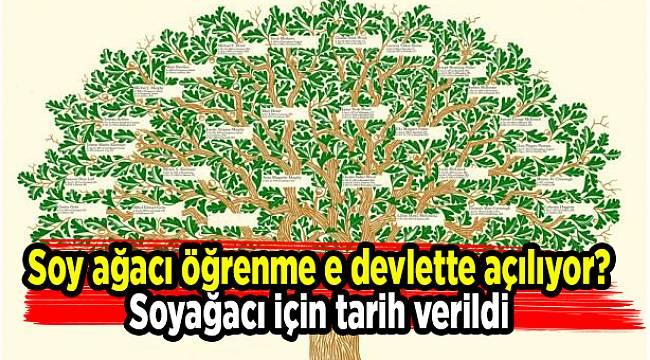 Soy ağacı öğrenme e devlette açılıyor? Soyağacı için tarih verildi