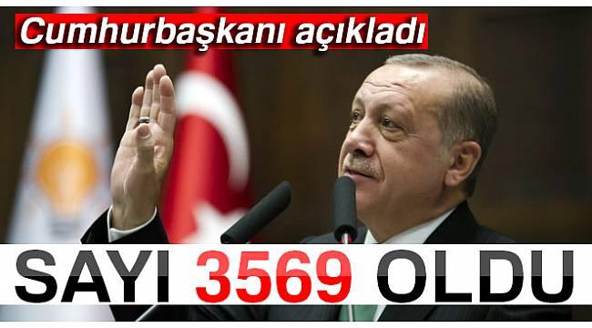 Cumhurbaşkanı Recep Tayyip Erdoğan Son Sayıyı Açıkladı