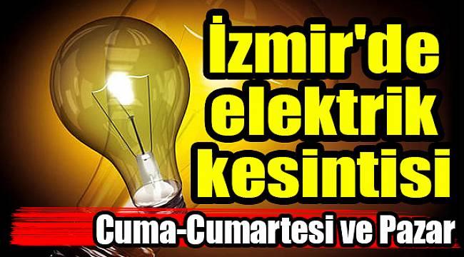 İzmir'de elektrik kesintisi(23-24-25 Mart 2018)