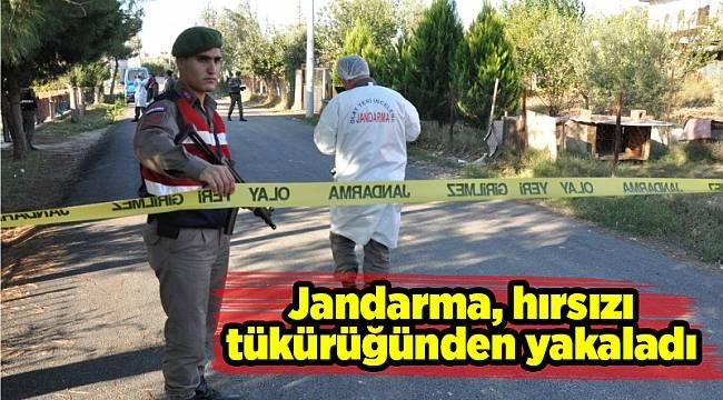 Jandarma, hırsızı tükürüğünden yakaladı