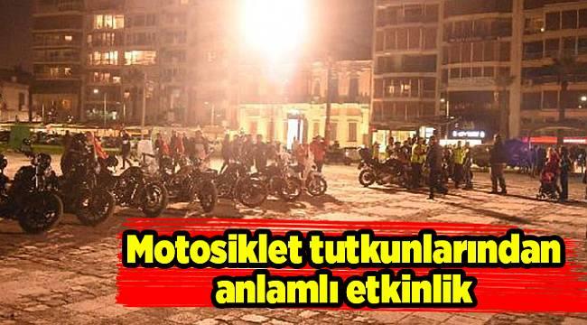 Motosiklet tutkunlarından anlamlı etkinlik