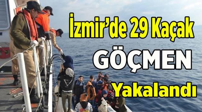 İzmir'de 29 kaçak göçmen yakalandı