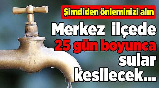 İzmir'de su kesintisi(24 Nisan -25 Mayıs 2018)