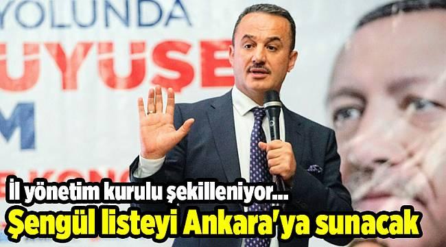 Şengül listeyi Ankara'ya sunacak