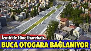 İzmir'de Buca'yı otogara bağlayacak olan tünelde çalışmalar sürüyor