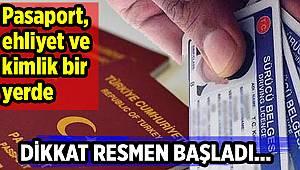 Pasaport, ehliyet ve kimlik bir yerde