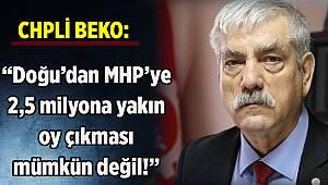CHP'li Beko: Doğu'dan MHP'ye 2,5 milyona yakın oy çıkması mümkün değil
