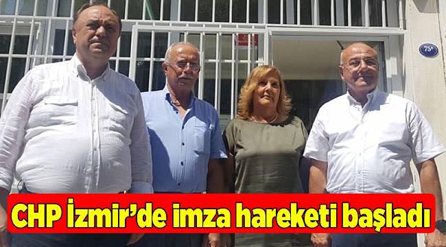 CHP İzmir'de imza hareketi başladı