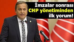 İmzalar sonrası CHP yönetiminden ilk yorum