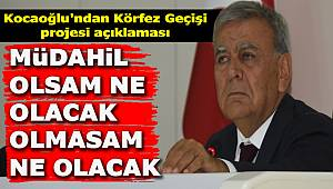 """Kocaoğlu'ndan Körfez Geçişi projesi açıklaması: """"Müdahil olsam ne olacak, olmasam ne olacak"""""""