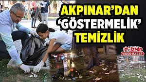 AKPINAR'DAN 'GÖSTERMELİK' TEMİZLİK