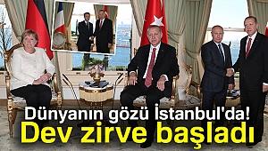 İstanbul'da Suriye konulu dörtlü zirve başladı