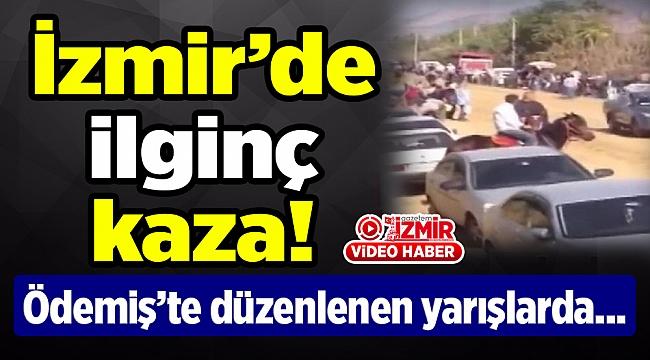 İzmir'de atlar böyle çarpıştı...