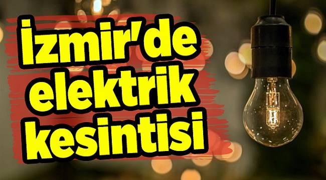 İzmir'de elektrik kesintisi (15-16-17 Ekim 2018)