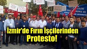 İzmir'de Fırın İşçilerinden Protesto