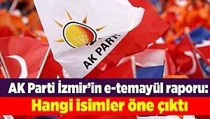 AK Parti İzmir'in e-temayül raporu: Hangi isimler öne çıktı