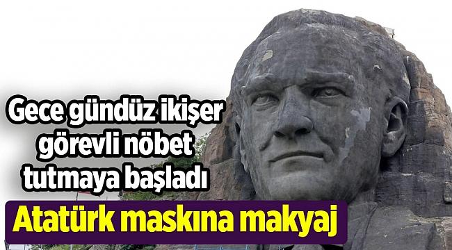 Atatürk maskına makyaj
