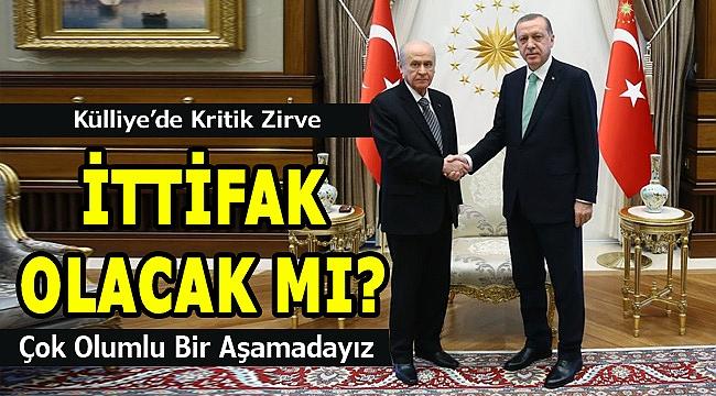 Erdoğan ve Devlet Bahçeli görüştü! İttifak olacak mı?
