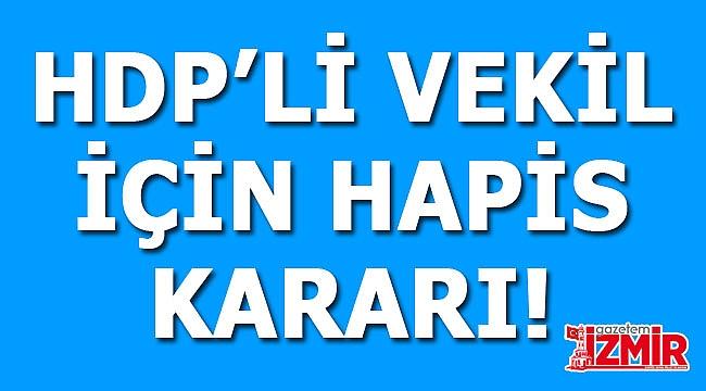 HDP Milletvekili, hapis cezasına çarptırıldı