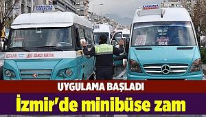 İzmir'de minibüse zam