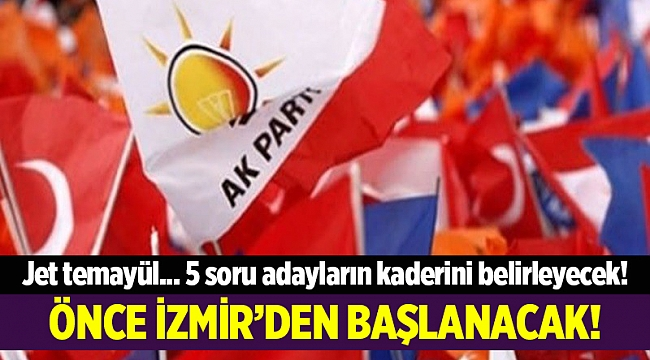 Önce İzmir'den başlanacak
