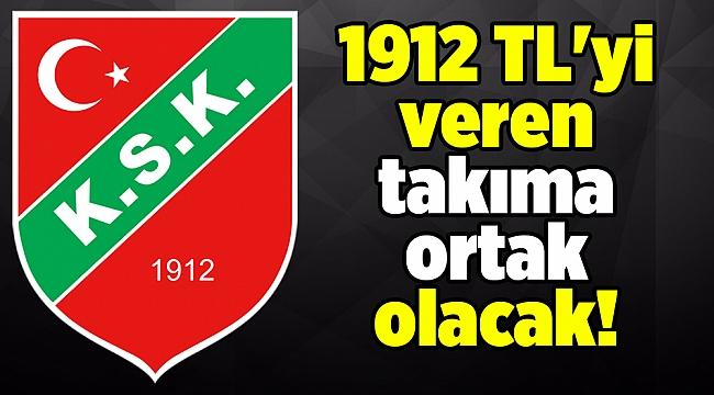 1912 TL'yi veren takıma ortak olacak!