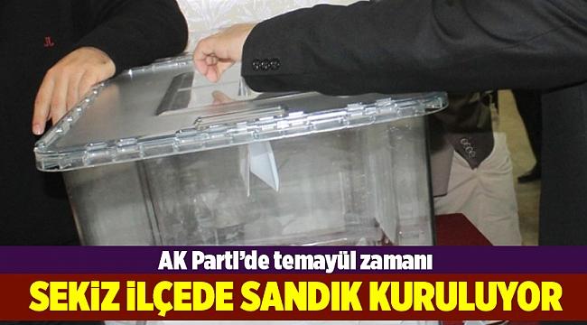 AK Parti'de o ilçelerde temayül mesaisi
