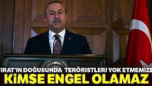 Bakan Çavuşoğlu: 'Fırat'ın doğusunda da bu teröristleri yok etmemize...'