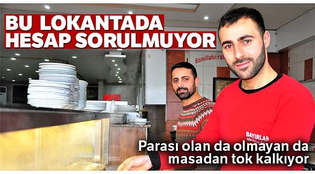 'İnsanlık ölmedi' dedirten lokanta