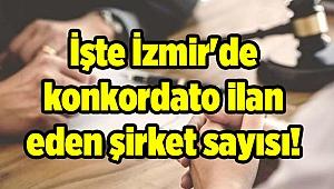 İşte İzmir'de konkordato ilan eden şirket sayısı!