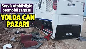 İzmir'de otomobil ile servis otobüsü çarpıştı: 35 yaralı