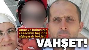 Kardeşini ve eniştesini yeğeninin gözü önünde öldürdü
