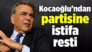 Kocaoğlu'ndan istifa resti
