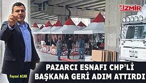 Pazarcı Esnafı Başkana Geri Adım Attırdı!