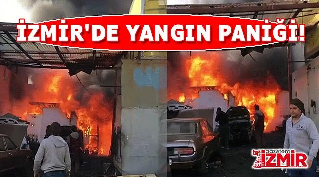 Tamirhanedeki Yangın Panik Yarattı