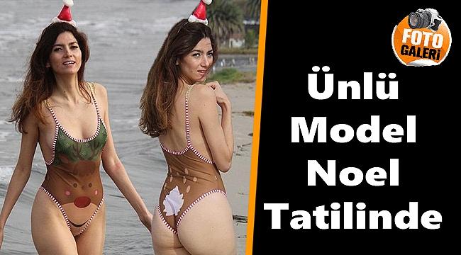 Ünlü model Blanca Blanco Noel tatilinde