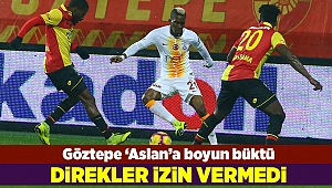 Göztepe evinde Galatasaray'a mağlup oldu