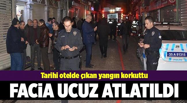 İzmir'de otelde yangın paniği