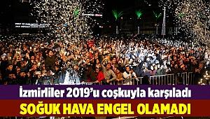 İzmirliler 2019'u coşkuyla karşıladı