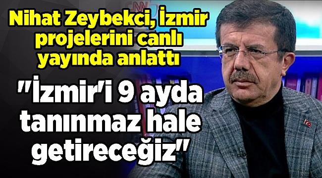 Nihat Zeybekci, İzmir projelerini canlı yayında anlattı