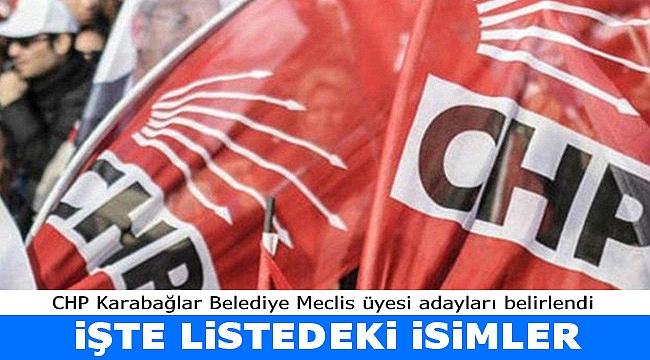 İşte CHP Karabağlar Meclis üyesi adayları