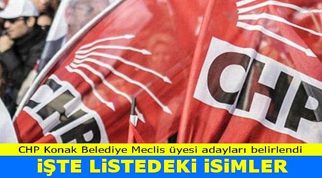 İşte CHP Konak Meclis üyesi adayları