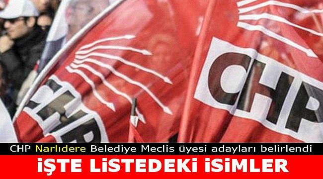 İşte CHP Narlıdere Meclis üyesi adayları