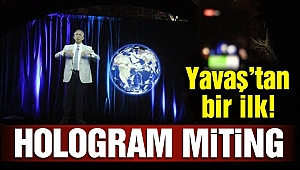 Mansur Yavaş'tan hologram miting!