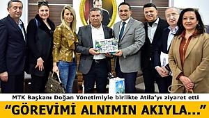 MTK Başkanı Doğan ve Yönetiminden Atila'ya Ziyaret