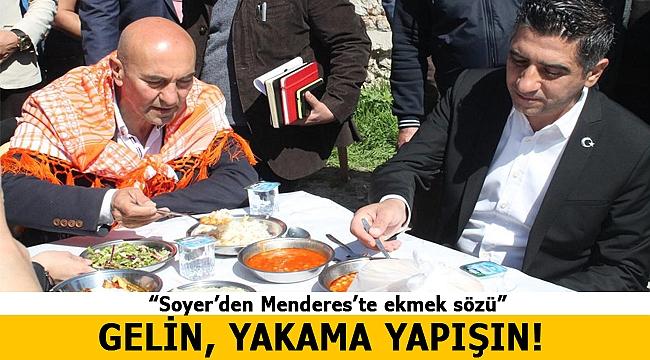 Soyer Menderes'te seçmenle buluştu; söz verdi...