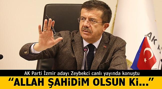 """Zeybekci canlı yayında konuştu: """"Allah şahidim olsun ki.."""""""