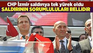 CHP İzmir Kılıçdaroğlu'na yönelik saldırıya karşı tek yürek oldu