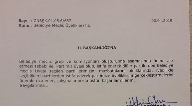 İYİ Parti'den 'CHP'den istifa' genelgesi